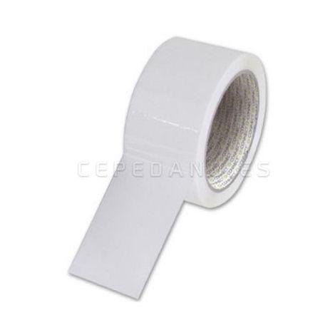 Rollo Precinto PVC Blanco 48mmx132mts 6 Unidades