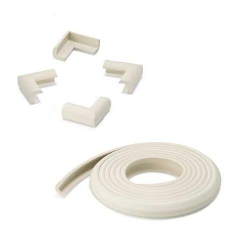Rollo protector cantos (2 m) + 4 esquineras Blanco - Blanco