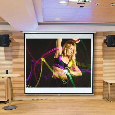"main image of ""Rollo screen 240x240 cm home cinema beamer projector screen beamer screen"""