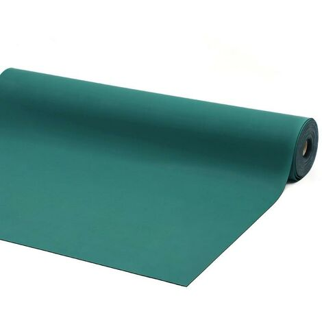Rollo tapete antiestatico 10 metros x 1,2 metros (12 m2) color verde azulado