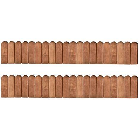 Rollos de borde de jardín 2 uds madera pino impregnada 120 cm