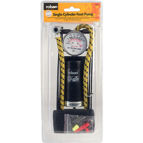 Rolson 42964 Single Cylinder Foot Pump
