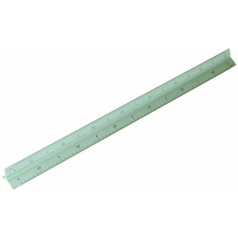 Rolson 50820 300mm Triangle Scale Ruler