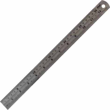 Rolson 50824 300mm Stainless Steel Ruler