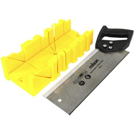 Rolson 58262Tenoni e plastica Mitre box, nero