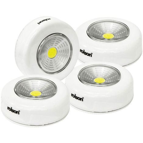 Rolson 61601 4pc COB Push Light