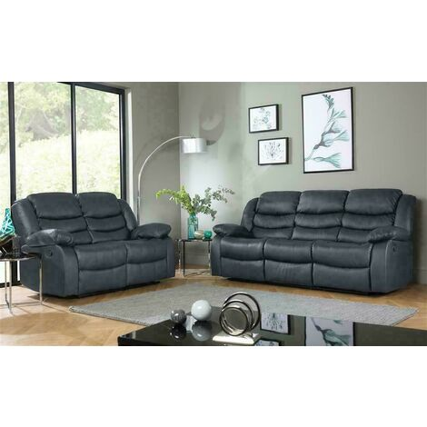 Roma Corner Sofa Leather Recliner Sofas in Various Colours