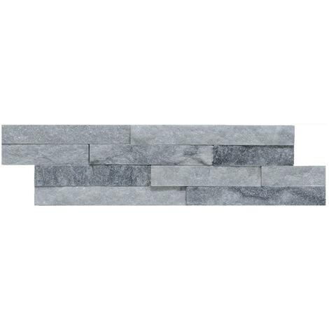 Roma Splitface Mosaic Grey/White Sparkle 10cm x 36cm