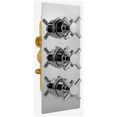 Romain 3 Dial 2 Way Cross Concealed Thermostatic Control