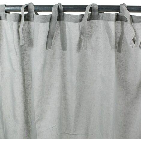 ROMANCE - Voilage à nouettes gris 110x250 - Gris
