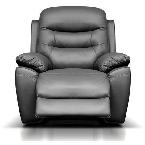 Romano Reclining Armchair Leather Available In Black
