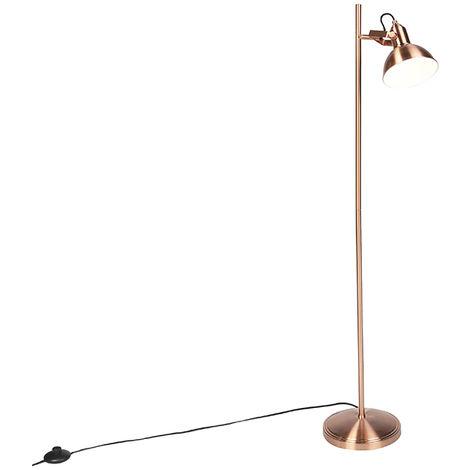 Romantic floor lamp copper 1-light - Tommy