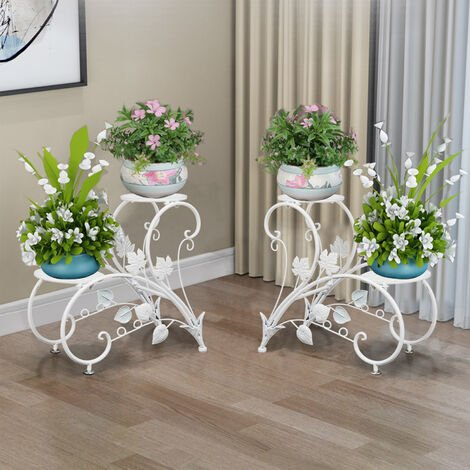 Romantic Tall Plant Stand Art Flower Potted Holder Rack Planter Supports Shelf