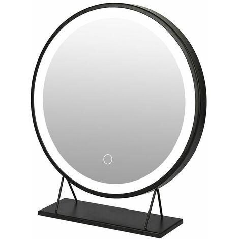 Rond Miroir à cosmétique , miroir à maquillage lumineux, 50*50cm , 6500k , Gradable en trois couleurs