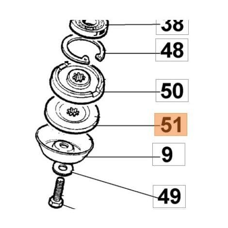 Rondelle de pression inférieur débroussailleuse Oleo Mac