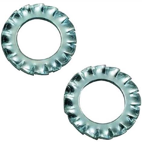 Rondelle Dentellate Esterne Zincate 1//4  Mm 6 1000 Pezzi