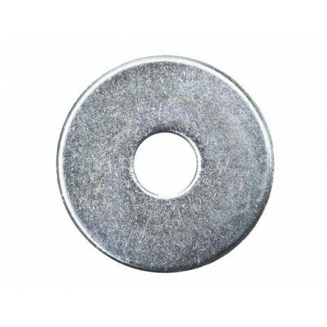 Rondelle large zinguée - 6 X 20 - Boite de 50