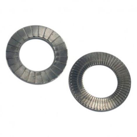 Rondelle NORDLOCK large M12 mm INOX A4L - Boite de 100 pcs - Diamwood RNLL12A4L