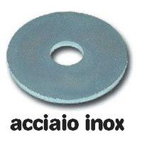Rondelle Piane Larghe in Acciaio Inox Uni 6592 misura 8x24 mm conf. 200 pz