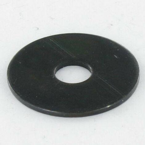 RONDELLE PLATE M8X30X1.5 LL ACIER ZINGUE NOIR