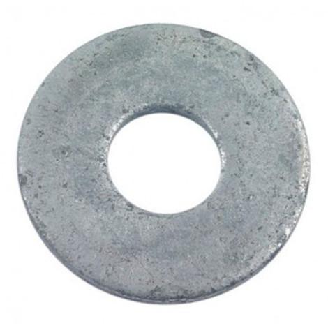 Rondelle plate pour boulon de charpente M20 x 55 x 6 mm Galvanisée - Boite de 25 pcs - Diamwood RC20X55X609B