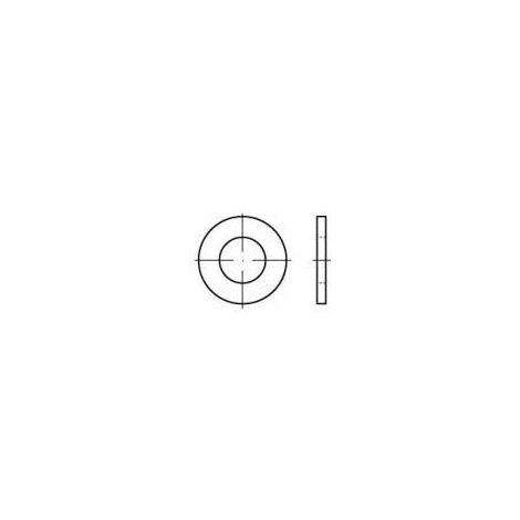 Rondelle TOOLCRAFT 105502 N/A Ø intérieur: 3.2 mm acier étamé par galvanisation, chromé jaune 200 pc(s) Q73375
