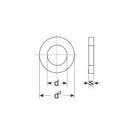 Rondelle TOOLCRAFT A3,2 D125-A2 194694 N/A Ø intérieur: 3.2 mm M3 acier inoxydable A2 100 pc(s) S59890