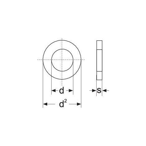 Rondelle TOOLCRAFT A4,3 D125-A2 188710 N/A Ø intérieur: 4.3 mm M4 acier inoxydable A2 100 pc(s) S59825