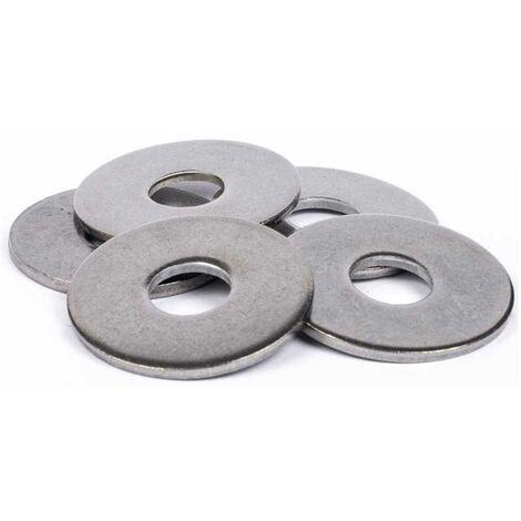 Rondelles plates Extra Large (LL) inox A4 | 6mm - 10 pcs