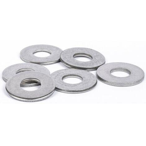 Rondelles plates Large (L) inox A2