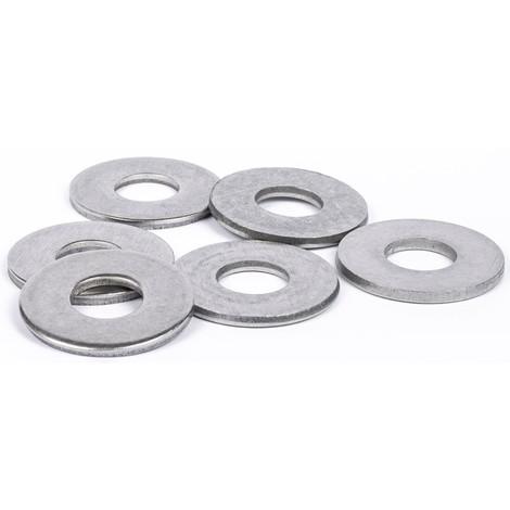 Rondelles plates Large (L) inox A4 marine