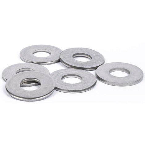 Rondelles plates Large (L) inox A4 marine