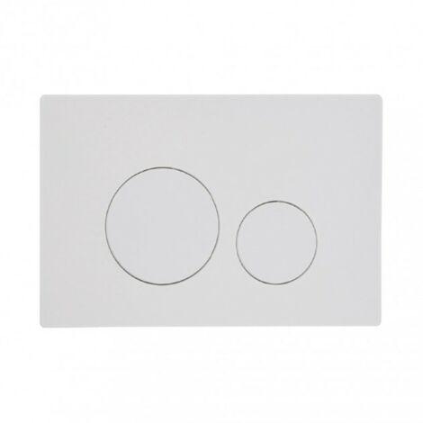 Rondo Dual Flush Push Plate - White