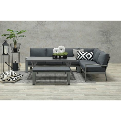 """main image of """"Rondo Large Lounge Dining Corner Group with Bench"""""""