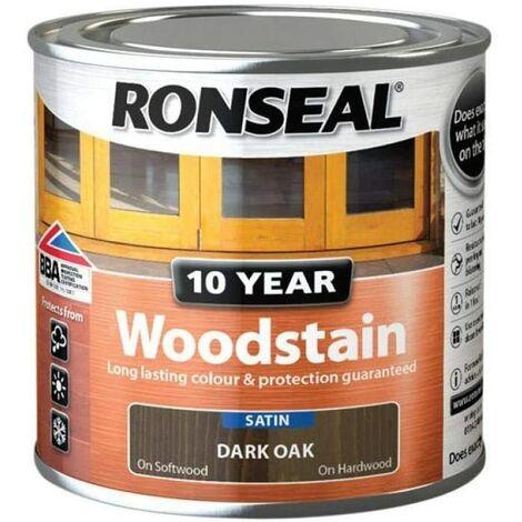 Ronseal 10 Year Woodstain Dark Oak 250ml