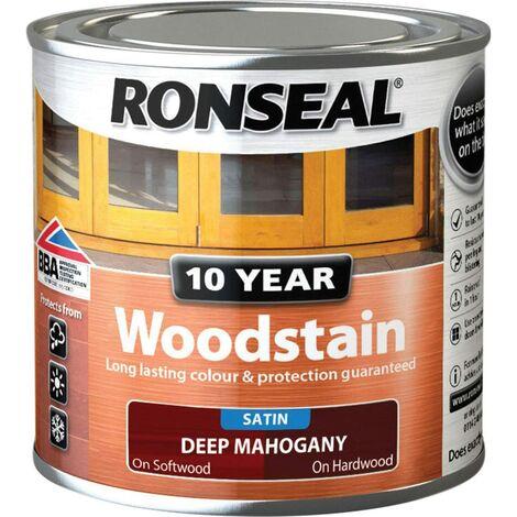 Ronseal 10 Year Woodstain Deep Mahogany 250ml