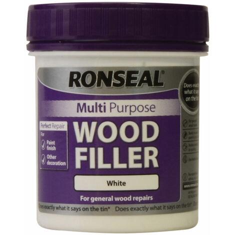 Ronseal 34739 Multipurpose Wood Filler Tub White 250g