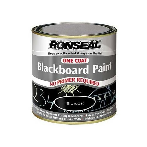 Ronseal 35227 One Coat Blackboard Paint 250ml