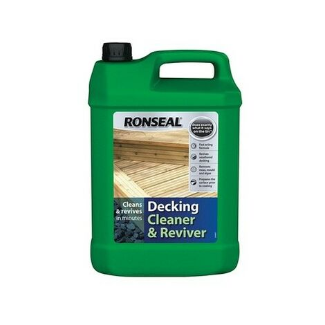 Ronseal 35903 Decking Cleaner & Reviver 5 Litre