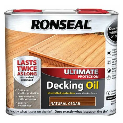 Ronseal 36934 Ultimate Decking Oil Natural Cedar 2.5 Litre