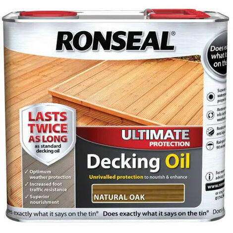 Ronseal 36935 Ultimate Decking Oil Natural Oak 2.5 Litre