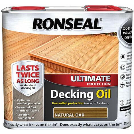 Ronseal 36935 Ultimate Protection Decking Oil Natural Oak 2.5 litre