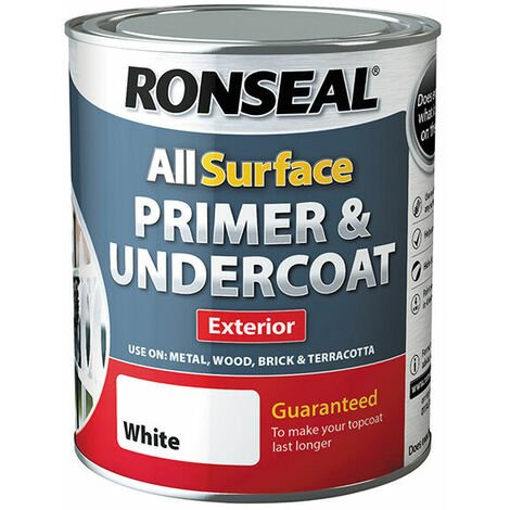 Ronseal 37559 All Surface Primer & Undercoat Exterior White 750ml