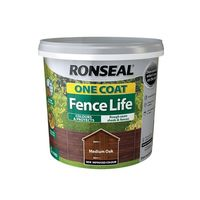 Ronseal 38289 One Coat Fence Life Medium Oak 5 Litre