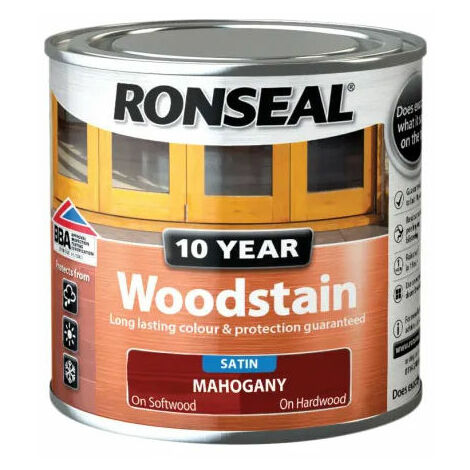 Ronseal 38648 10 Year Woodstain Mahogany 250ml