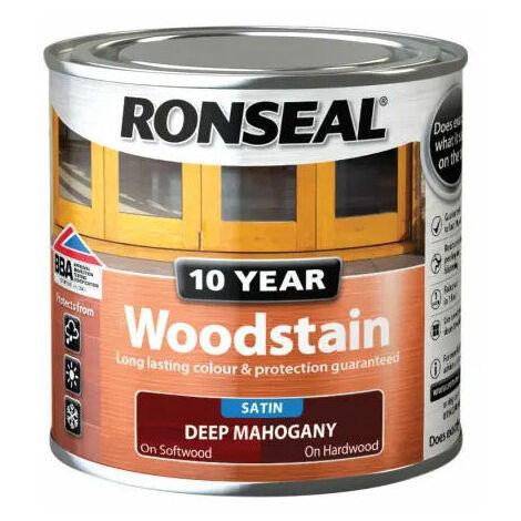 Ronseal 38649 10 Year Woodstain Deep Mahogany 250ml