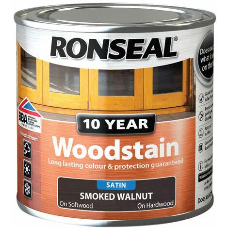 Ronseal 38667 10 Year Woodstain Smoked Walnut 250ml