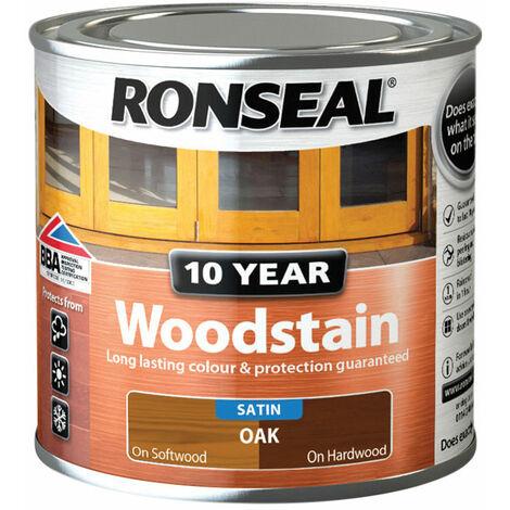 Ronseal 38668 10 Year Woodstain Oak 250ml