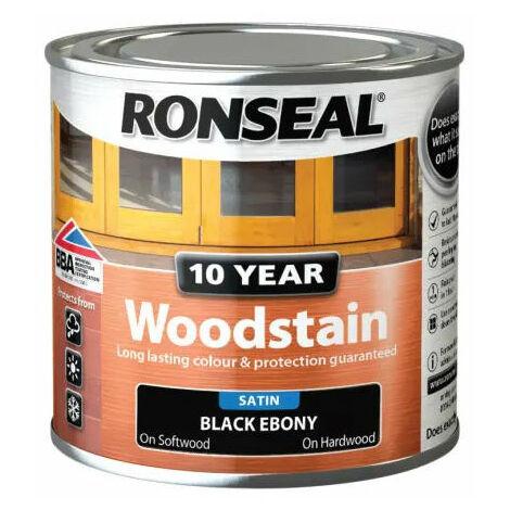 Ronseal 38673 10 Year Woodstain Ebony 250ml