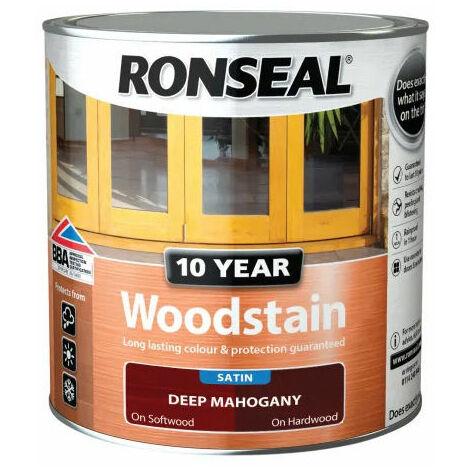 Ronseal 38675 10 Year Woodstain Deep Mahogany 750ml